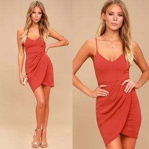 Forever Your Girl Rust Red Bodycon Dress Small